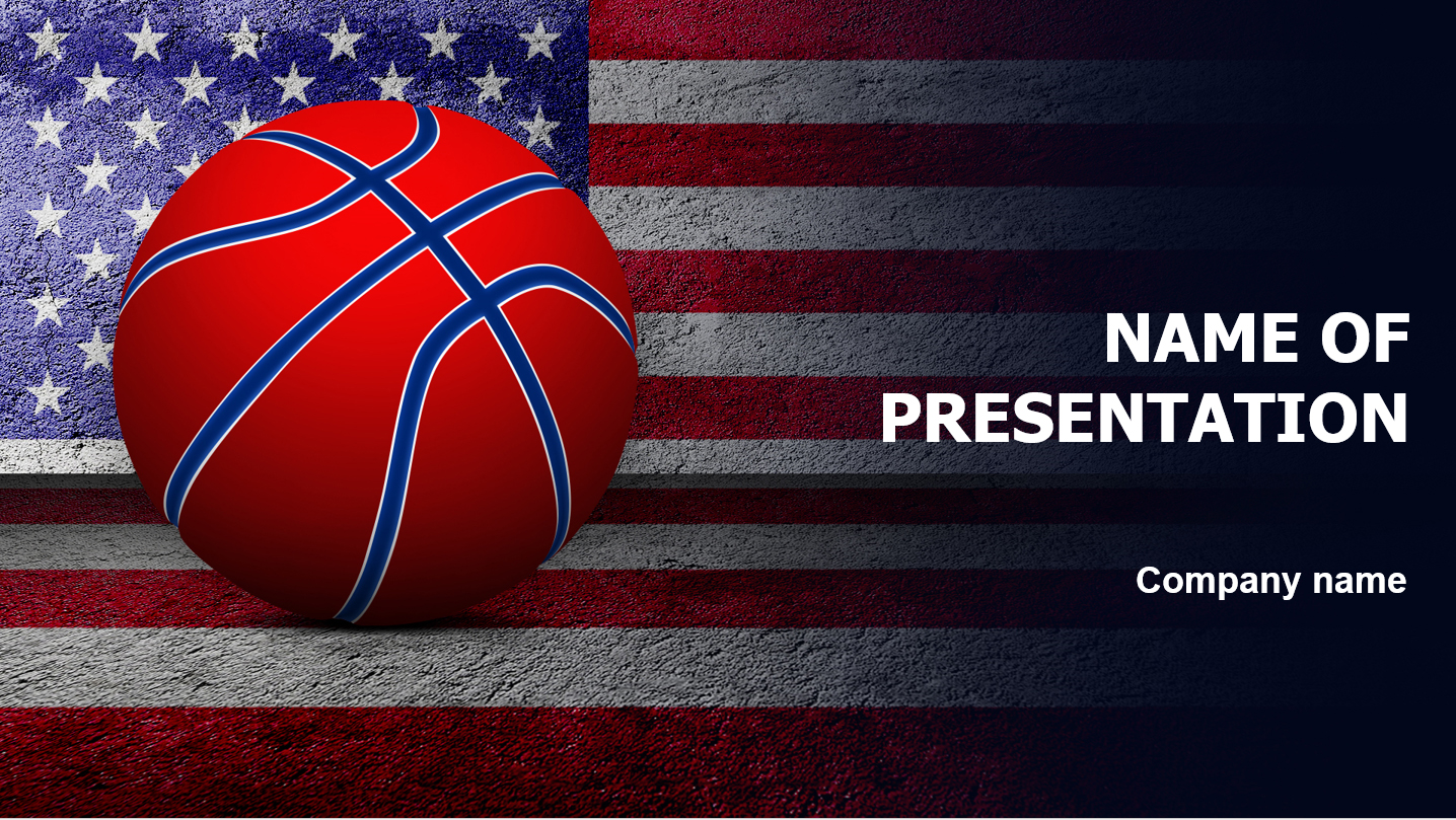 download free basketball of america powerpoint template for your presentation