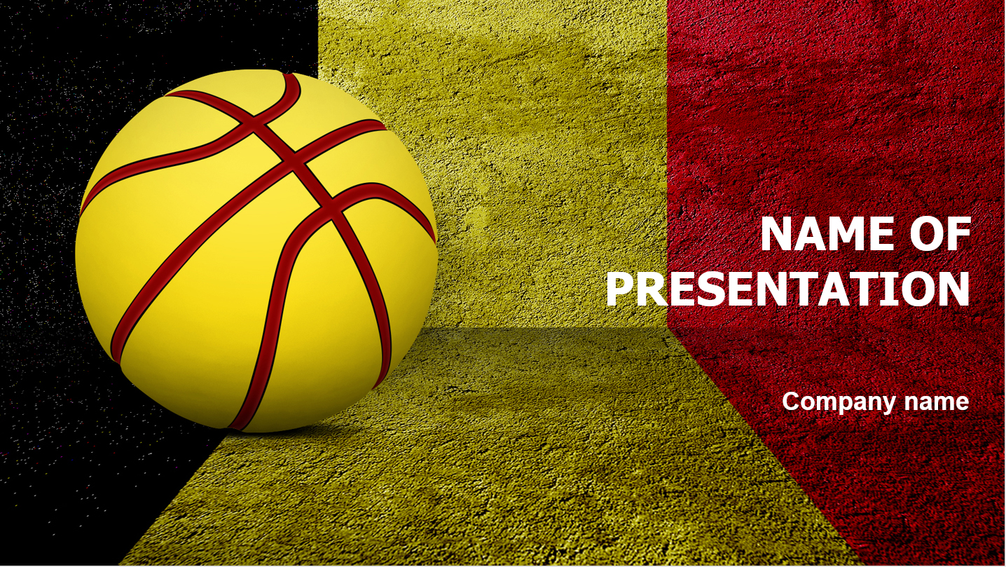 download free basketball of belgium powerpoint template