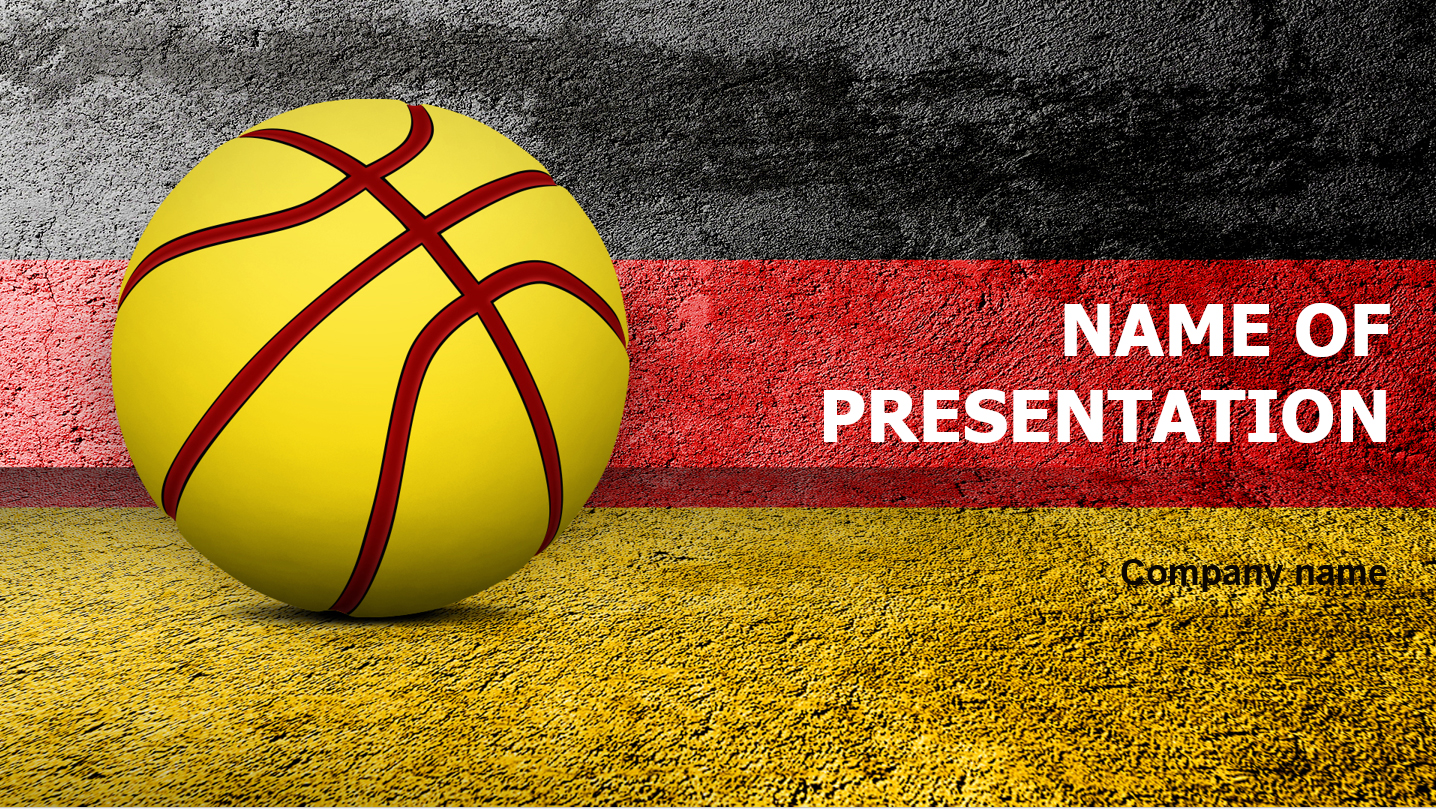 download free basketball of germany powerpoint template