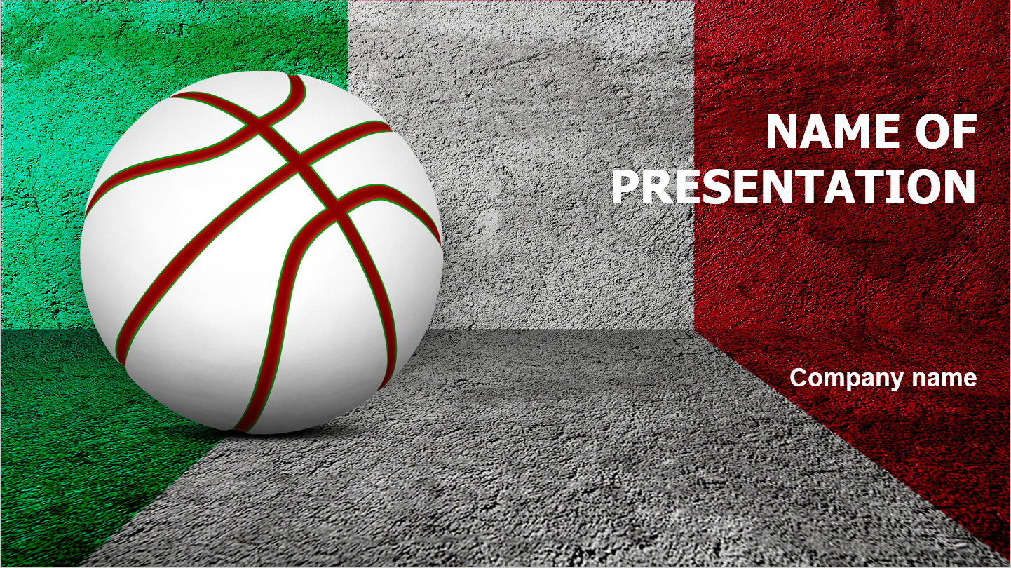 download free basketball of italy powerpoint template for your, Modern powerpoint
