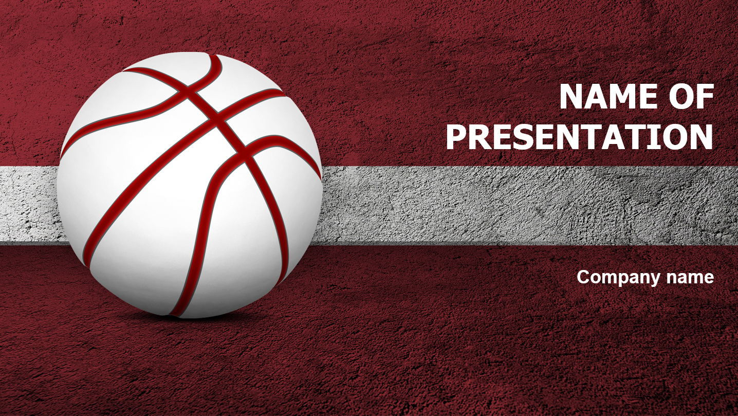 download free basketball of latvia powerpoint template for