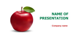 Free Delicious Apple powerpoint template presentation