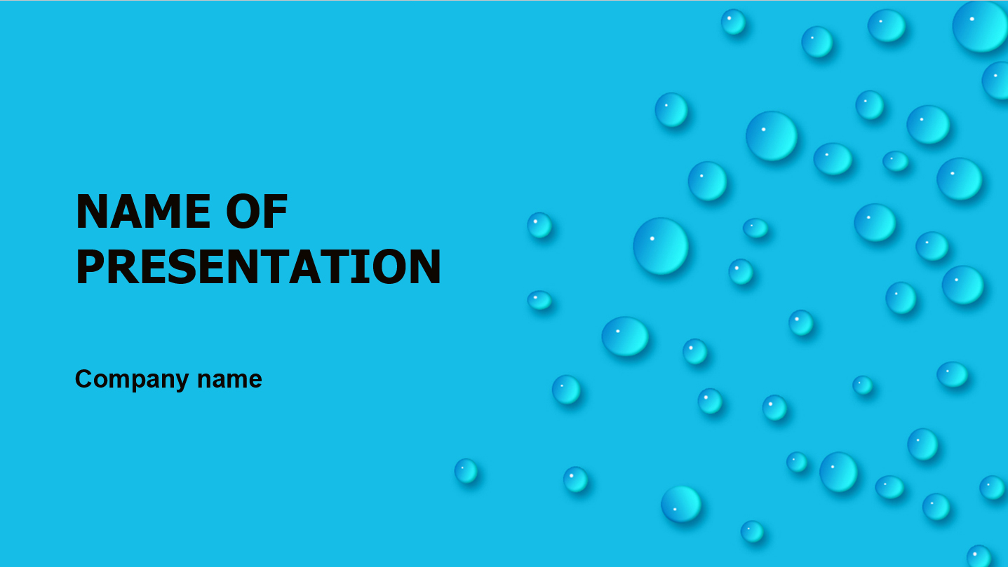 download free fresh dew powerpoint template for your