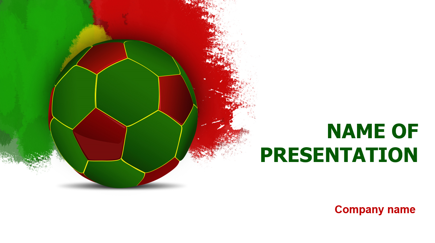 Download free portugal football players powerpoint for Power point templates for mac