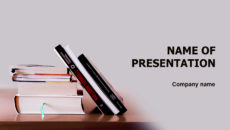 Good Books powerpoint template presentation