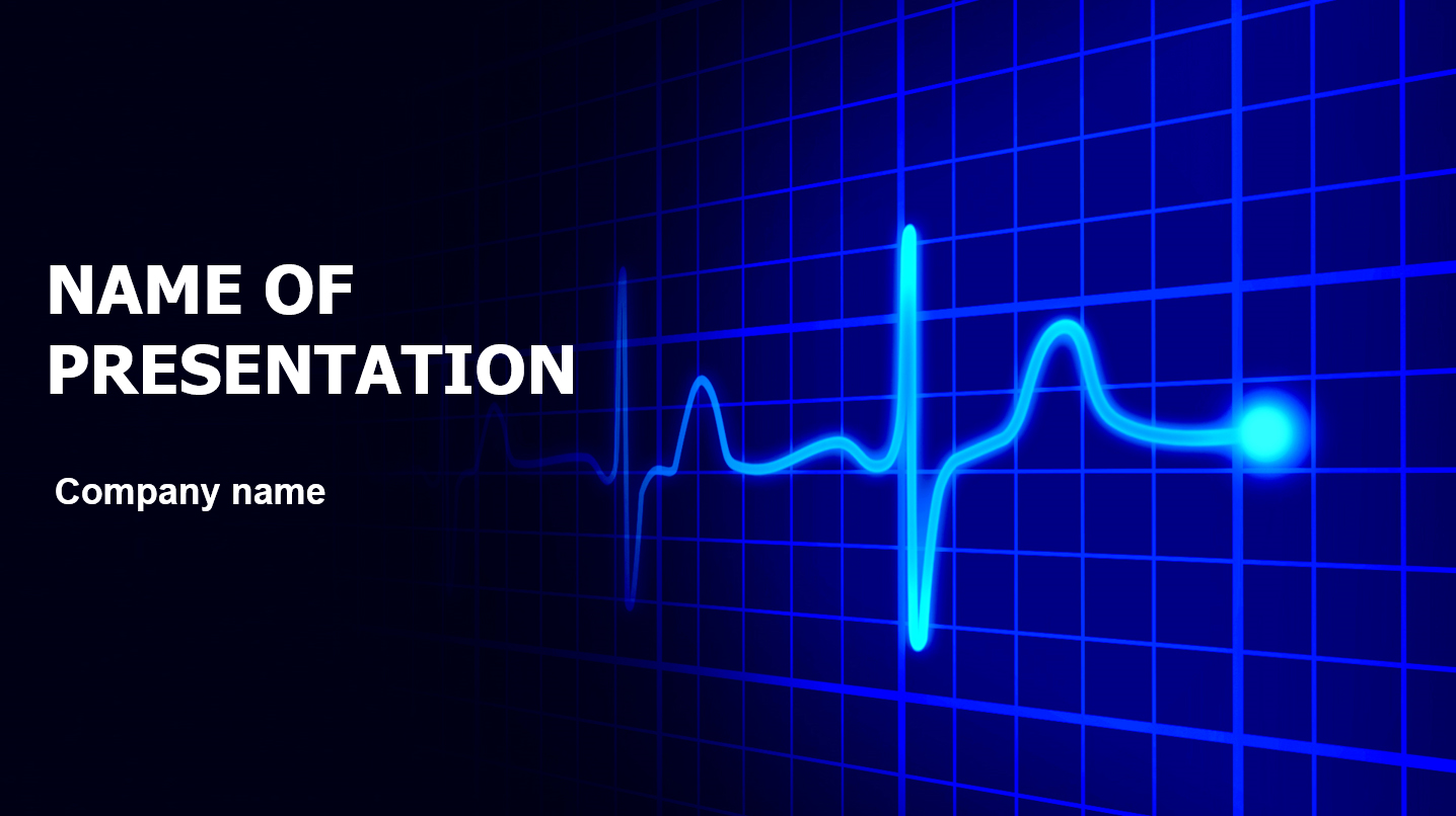 download free heart cardiogram powerpoint template for your presentation