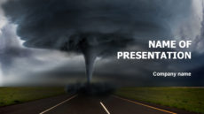 Hurricane Powerpoint template presentation