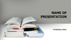 Readers Of literature powerpoint template presentation