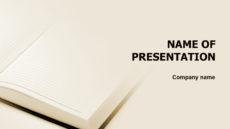 White Pocketbook powerpoint template presentation