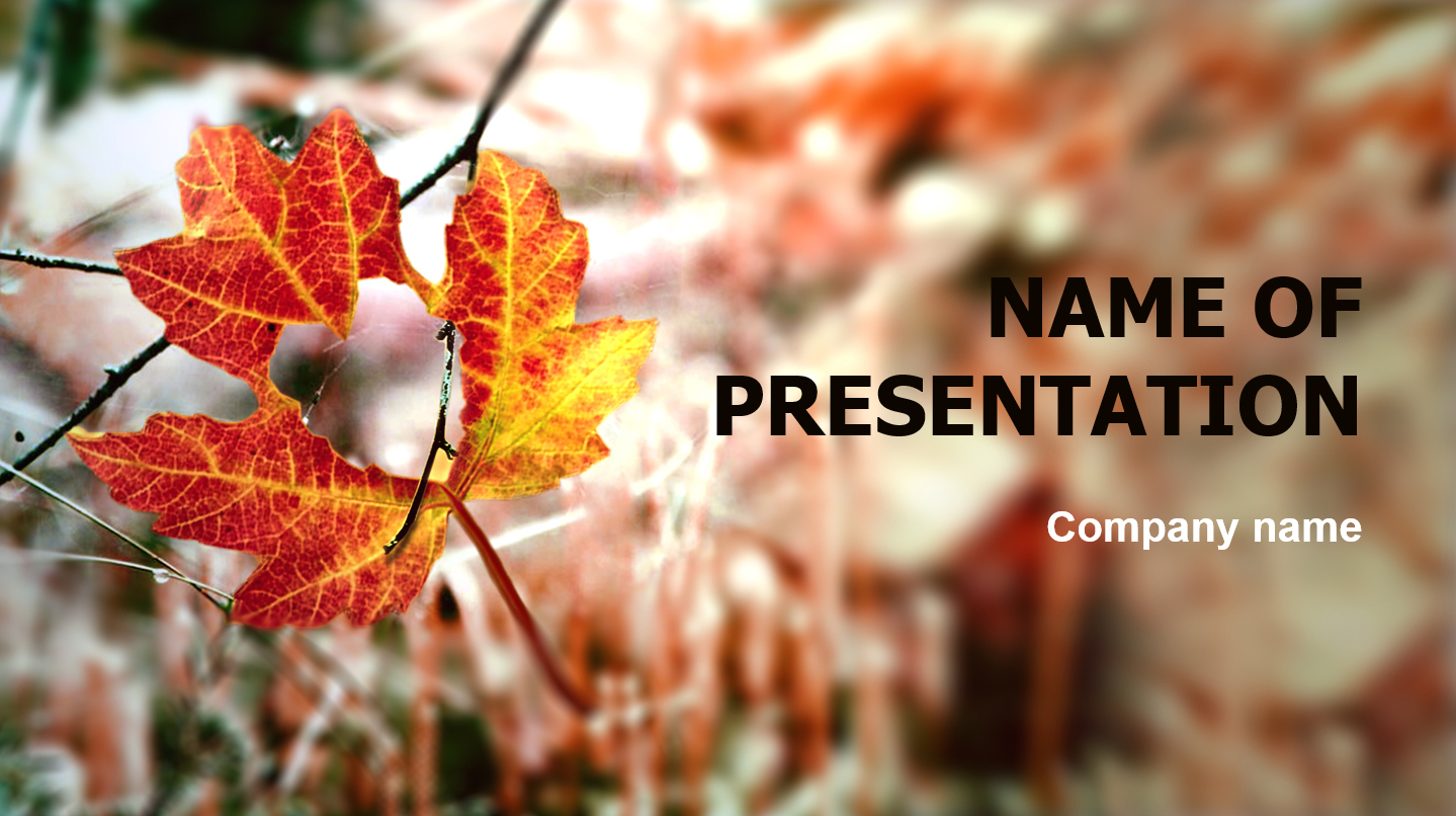 download free autumn is coming powerpoint template for