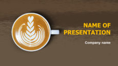 Coffee Time powerpoint template presentation