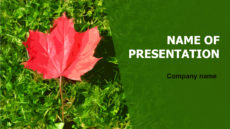 Free Autumn Beauty powerpoint template presentation