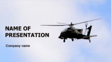 Helicopter In Sky powerpoint template presentation