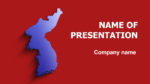 Korea Map powerpoint template presentation