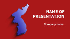Korea Map powerpoint template presentation