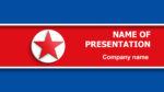 North Korea Flag powerpoint template presentation