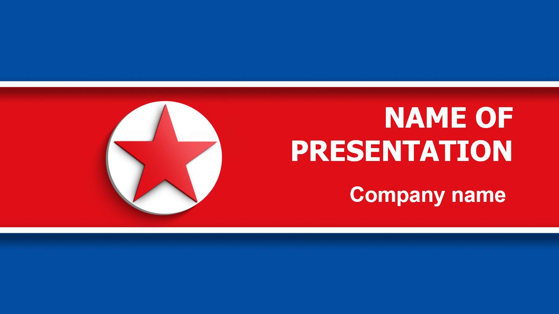 Download free north korea flag powerpoint template for your presentation north korea flag powerpoint template toneelgroepblik Image collections