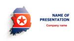 South Korea Map powerpoint template presentation