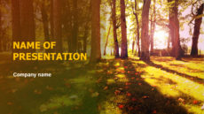 Sunny Fall powerpoint template presentation