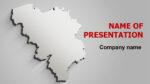 Gray Belgium Map powerpoint template presentation
