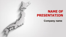 Gray Japan Map powerpoint template presentation