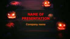 Halloween Ghosts Free powerpoint template presentation