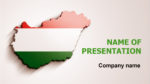 Hungary Flag powerpoint template presentation
