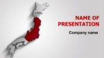 Japan Flag powerpoint template presentation