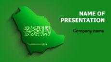 Saudi Arabia Flag powerpoint template presentation