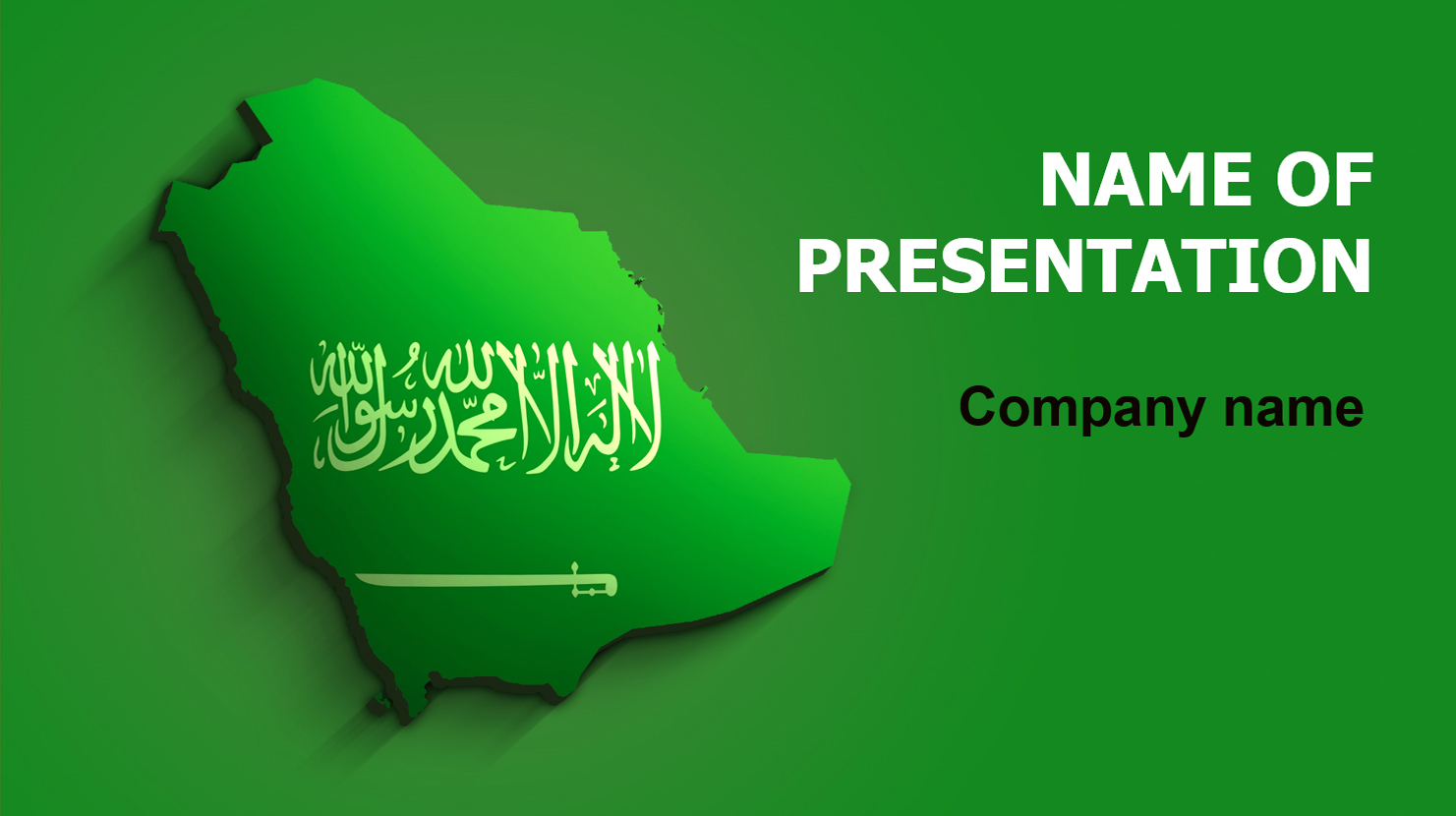 download free saudi arabia flag powerpoint template and