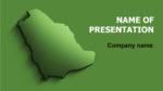 Saudi Arabia Map powerpoint template presentation