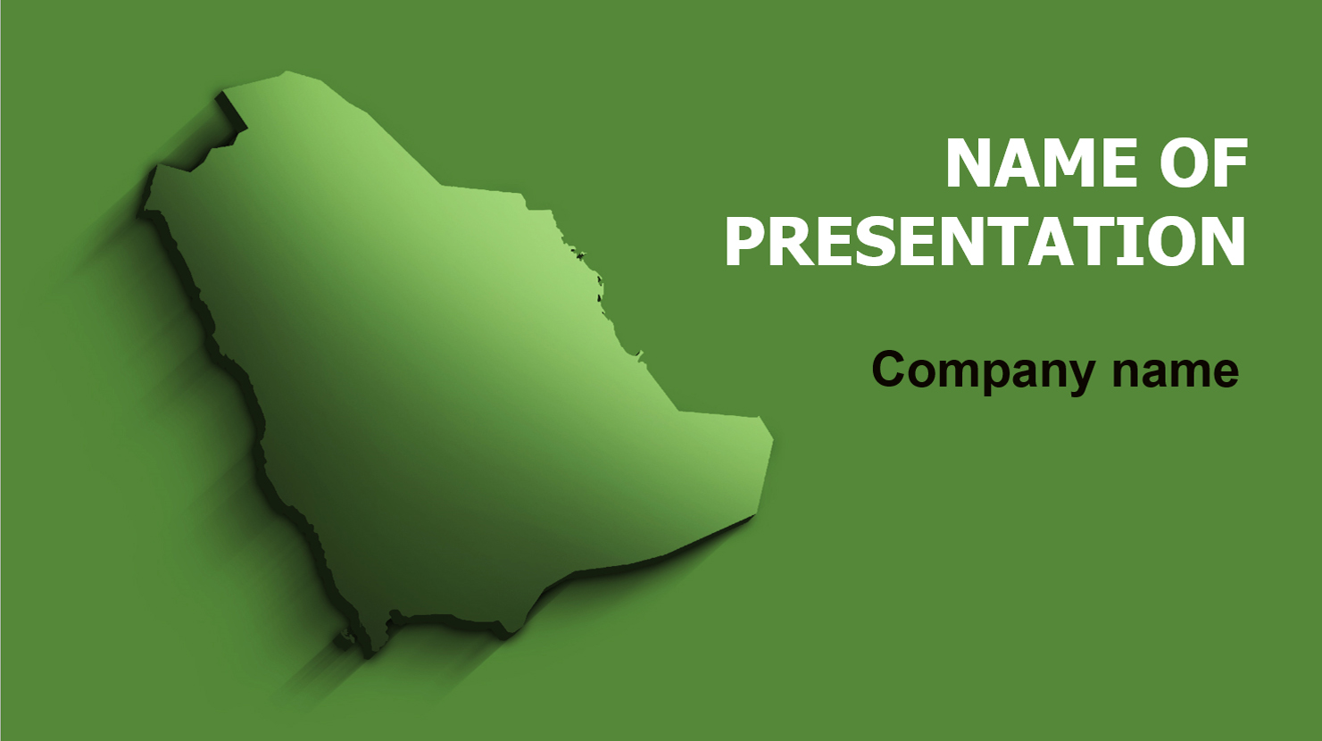 Download Free Saudi Arabia Map Powerpoint Template And