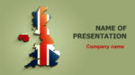 United Kingdom Flag powerpoint template presentation