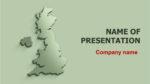 United Kingdom Map powerpoint template presentation