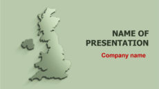 United Kingdom Map powerpoint template presentation