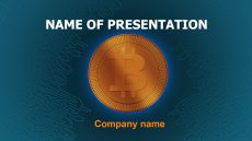 Free Buy Bitcoin powerpoint template presentation