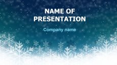 Free Deep Snow powerpoint template presentation