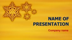 Free Funny Winter powerpoint template presentation