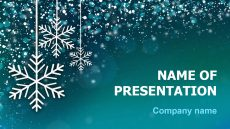 Free Snow Snowflakes powerpoint template presentation