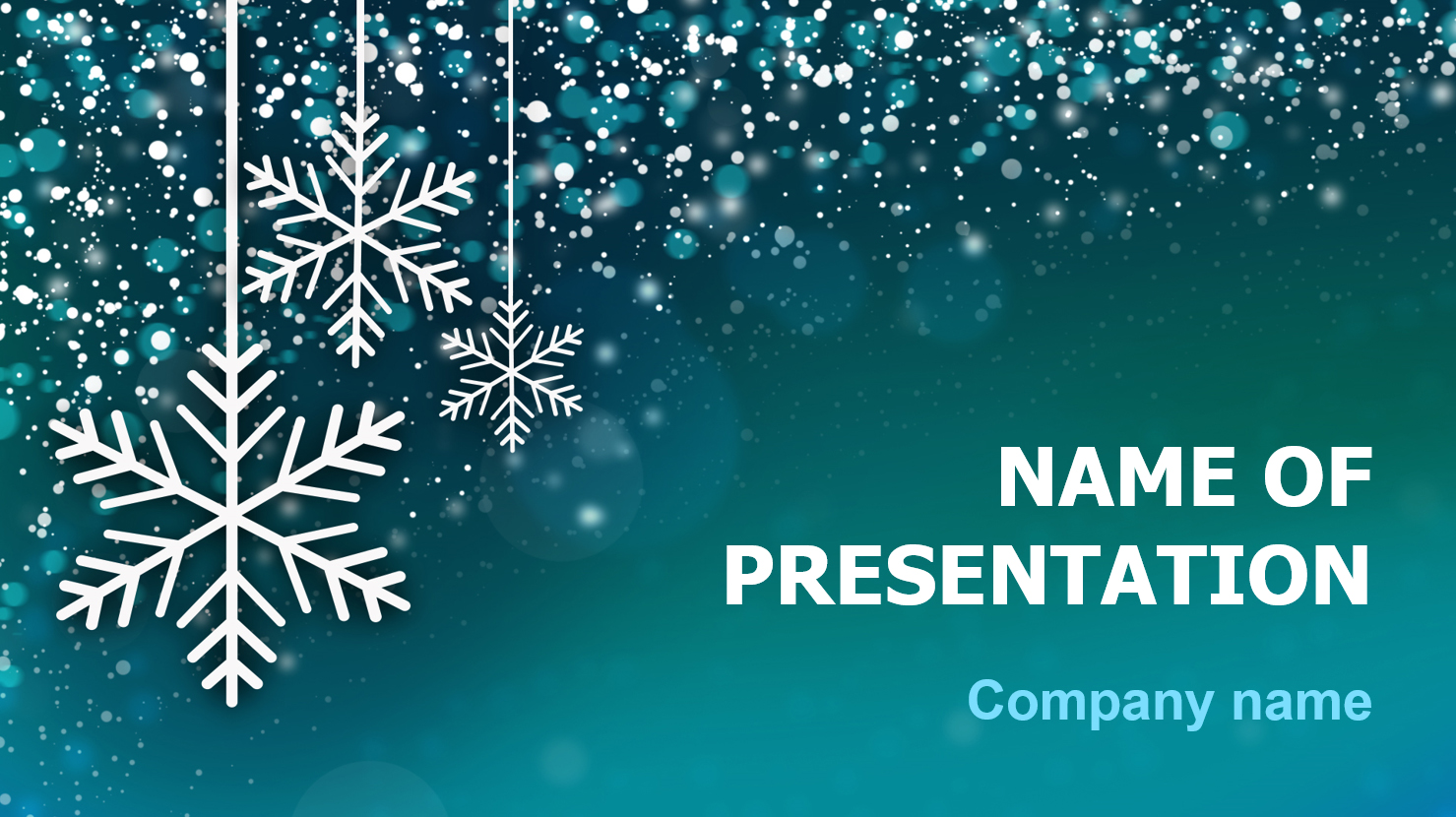 download free snow snowflakes powerpoint template and