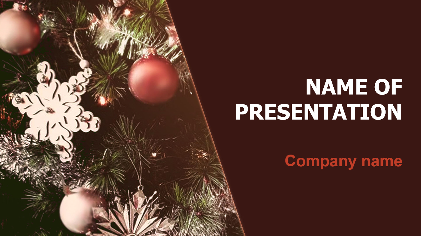 download free winter time powerpoint template and theme for your