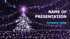 Free X-mas Miracles Time powerpoint template presentation