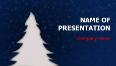 Free X-mas Night powerpoint template presentation