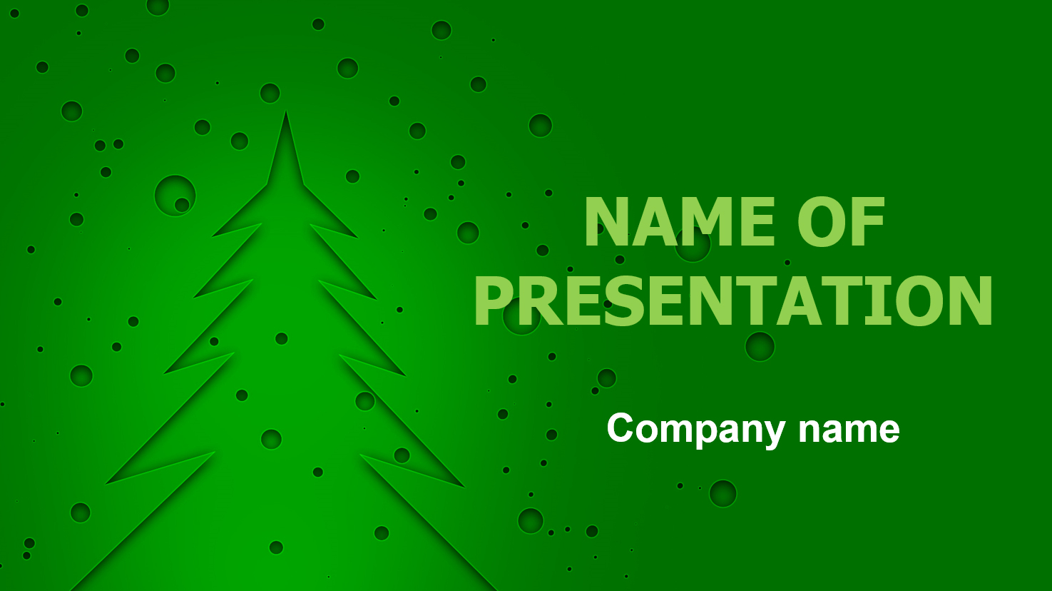 download free green christmas powerpoint template and theme for, Powerpoint templates