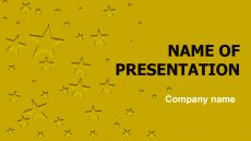 Miracles Of Stars powerpoint template presentation