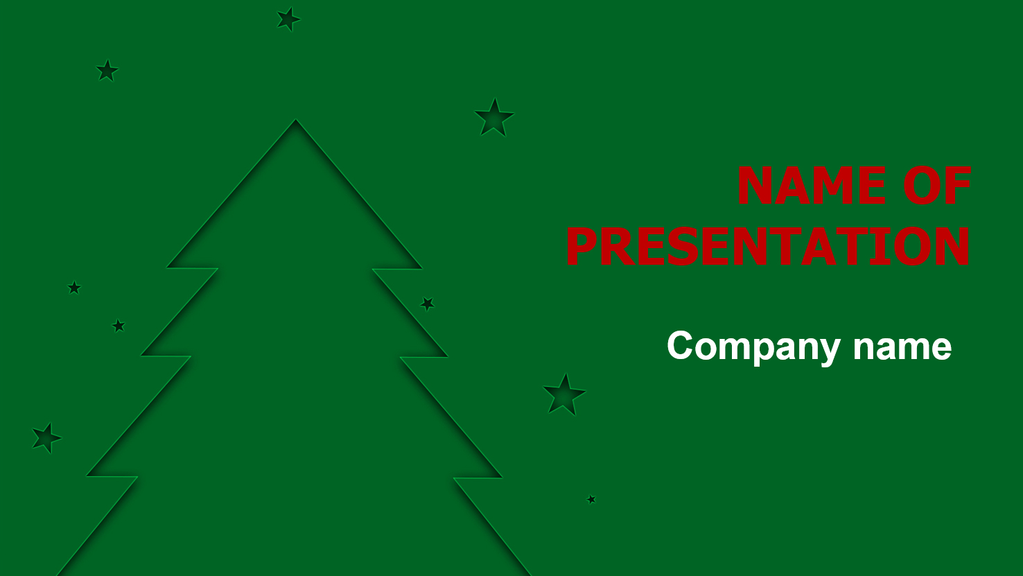 download free x-mas tree powerpoint template and theme for your, Modern powerpoint