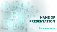 Free Bitcoin Coin PowerPoint template and theme