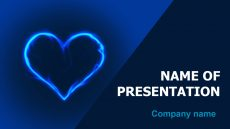 Cold Heart powerpoint template presentation