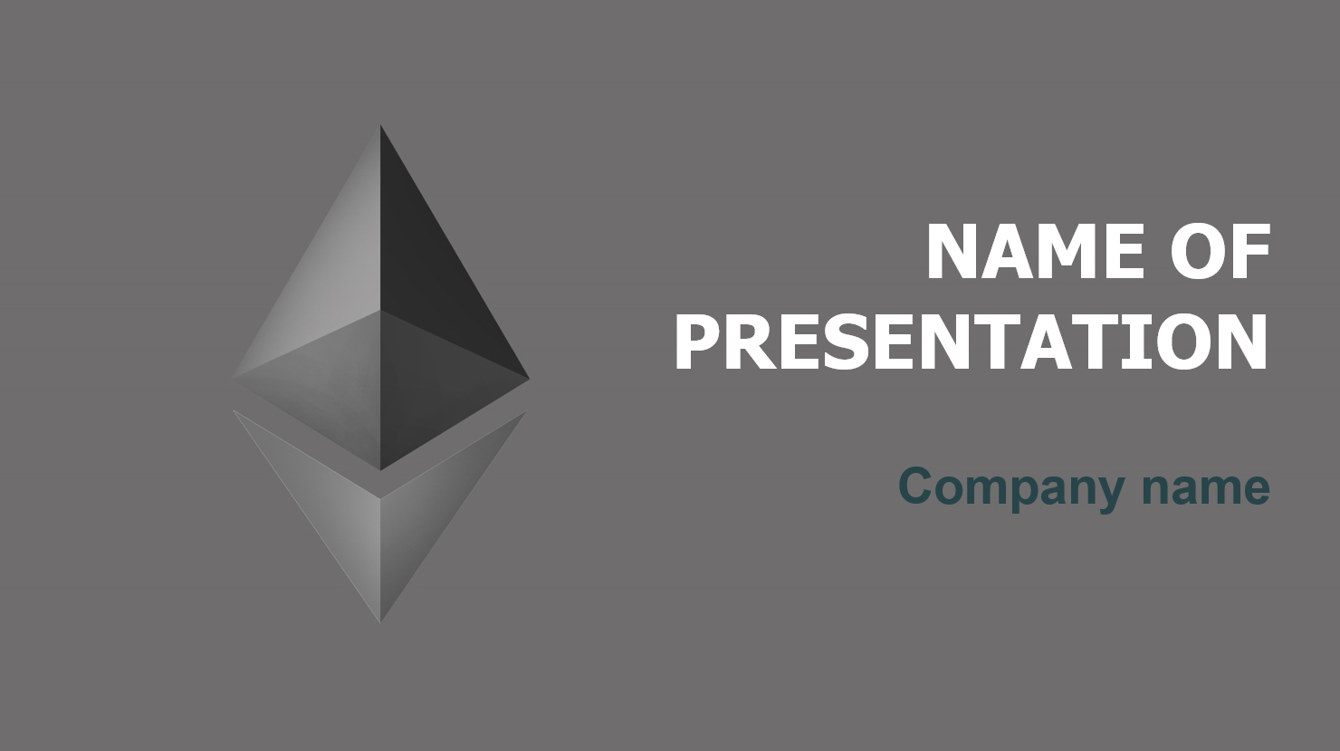 download free free ethereum project powerpoint template for your, Presentation templates